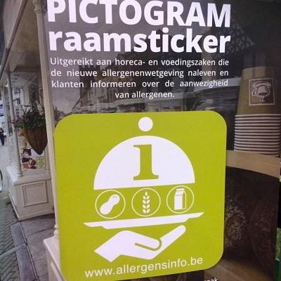 Un pictogramme «allergènes» pour les établissements horeca et les magasins d'alimentation